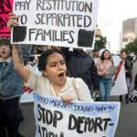 EEUU: Protestas masivas contra la visita delpresidente Trump a prototipos del muro (VIDEO)