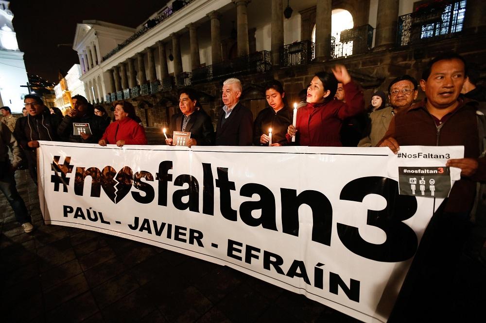Examinan imágenes de supuestos cuerpos de periodistas ecuatorianos