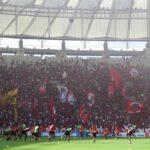 Flamengo entrena con público en el Maracaná con 50 mil hinchas en las gradas