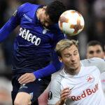 Copa Europa: Salzburgogolea al Lazio (4-1) y Olympique al Leipzig (5-2)