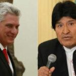 Presidente cubanoDíaz- Canel se reunirá este lunes con el mandatario boliviano Evo Morales