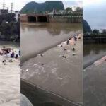 China: Remolinos de río succionan a dos embarcaciones y dejan 17 muertos (VIDEO)