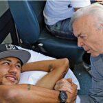 Neymar fue evaluado por su médico y se recupera conforme a lo planeado