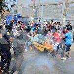 SJL: Enfrentamientos entre pobladores y policías por desalojo en parque zonal