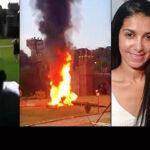 Novia se estrella en helicóptero delante de invitados, sobrevive y acude a boda (Video)