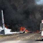 EEUU: Avión de transporte de la Fuerza Aérea se estrellócerca de aeropuerto de Savannah (VIDEO)