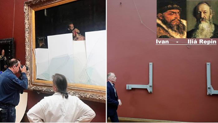 Rusia: Vandalizan célebre cuadro de Iván el Terrible