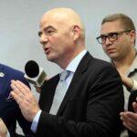 FIFA: Gianni Infantino visita Conmebol en la víspera de la reelección de Domínguez