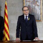 Nuevo presidente catalán asume poder sin representantes de gobierno español