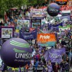 Gran manifestación en Londres por la mejora de salarios y derechos laborales