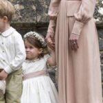 El príncipe Jorge y la princesa Carlota, paje y dama de honor en la boda real