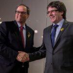 Puigdemont y Torra escenifican su doble presidencia sin revelar plan gobierno