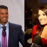 Hijo de Donald Trump olvida su divorcio y sale con presentadora de Fox News (VIDEO)