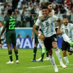 Rusia 2018: Argentina vence 2-1 a Nigeria y en octavos de final rivalizará con Francia