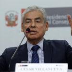 César Villanueva descarta cambios en Gabinete ministerial