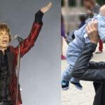 Mick Jagger llevará en la gira de sus conciertos a su pequeño hijo Dev