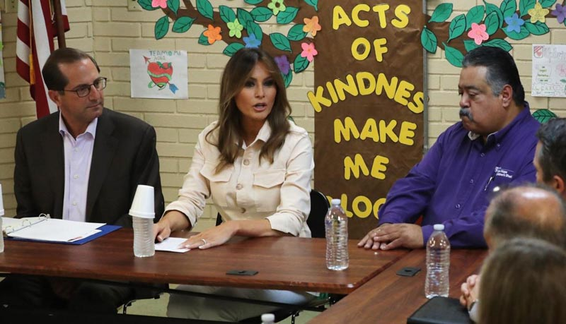 Inesperada visita de Melania Trump a la frontera con México