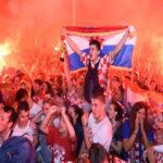 En Zagreb se desató la fiesta por jugar a la final del Mundial de Rusia 2018