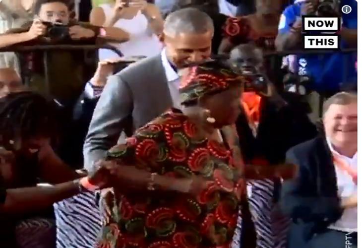 Grabación de Barack Obama bailando con su abuelita viraliza las redes sociales
