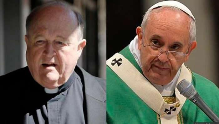 Papa acepta renuncia de arzobispo acusado de encubrir abusos