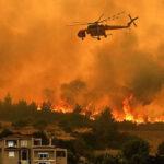 Grecia: Voraz incendio forestal deja al menos 20 muertos y avanza sin control en bosque de pinos (VIDEO)