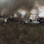 Un avión con 101 personas a bordo se estrella en el norte de México