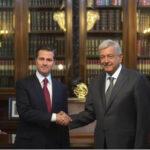México: Presidente saliente Peña Nieto recibió a su sucesor López Obrador en el Palacio Nacional (VIDEO)