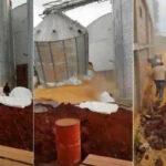 Paraguay: Silo con 100 toneladas de granos se derrumba y trabajadores se salvan de milagro (VIDEO)