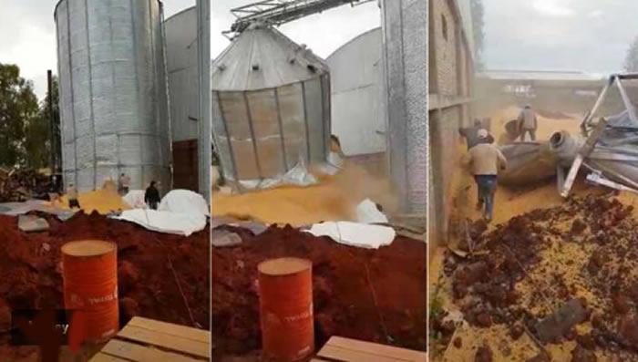 Salvan trabajadores colapso de silo — Impresionante video