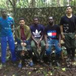 ELN difunde otra prueba de vida de tres policías y un militar secuestrados