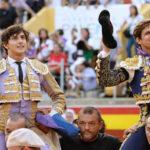 España: El Juli y Roca Rey salen a hombros en la primera de la Feria de Palencia