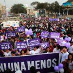 Ni una menos: Mujeres marchan hoy sábado en contra la corrupción