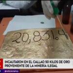 Callao: Incautan cargamento de oro ilegal valorizado en dos millones de dólares