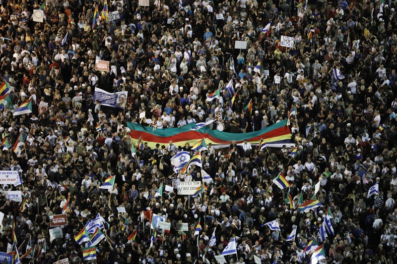 Multitudinaria protesta de drusos israelíes contra ley discriminatoria