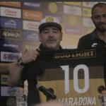 Diego Maradona fue presentado como DT de Dorados de la Liga de Ascenso MX