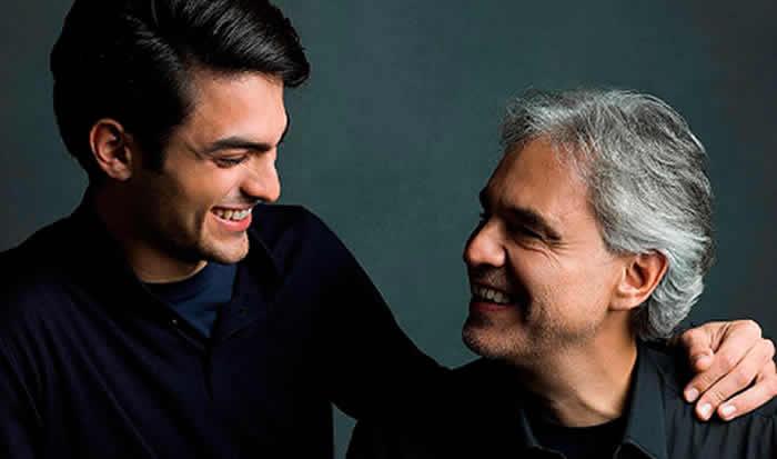 Andrea Bocelli lanzó su primer dueto con su hijo Matteo