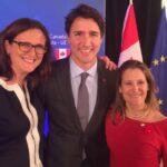 Trudeau y la Unión Europea defienden a la ministra de Exteriores canadiense