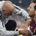 Lionel Messi con fractura en brazo derecho y se pierde el clásico ante Real Madrid