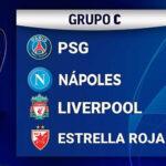 Champions League: Partidos, resultados y clasificación del Grupo C