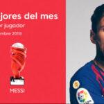 Liga Santander: Leo Messi premiado como Mejor Jugador en septiembre