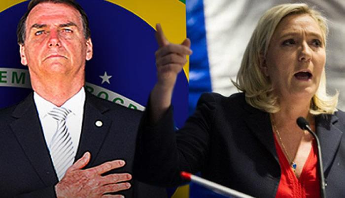 Líder de extrema derecha francesa: Bolsonaro dice cosas desagradables
