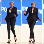 May exhibe su estilo al bailar al son de Abba en el congreso conservador (video)