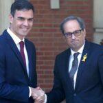 Presidente catalán quitará apoyo a Sánchez en un mes si no plantea referéndum