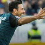 Bundesliga: Claudio Pizarro anota su tercer gol para el Werder Bremen