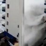 Canarias: Olas de hasta 6 metros de altura obligan a evacuar decenas de viviendas (VIDEO)