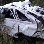 Tres muertos y seis heridos deja despiste de minivan en Áncash