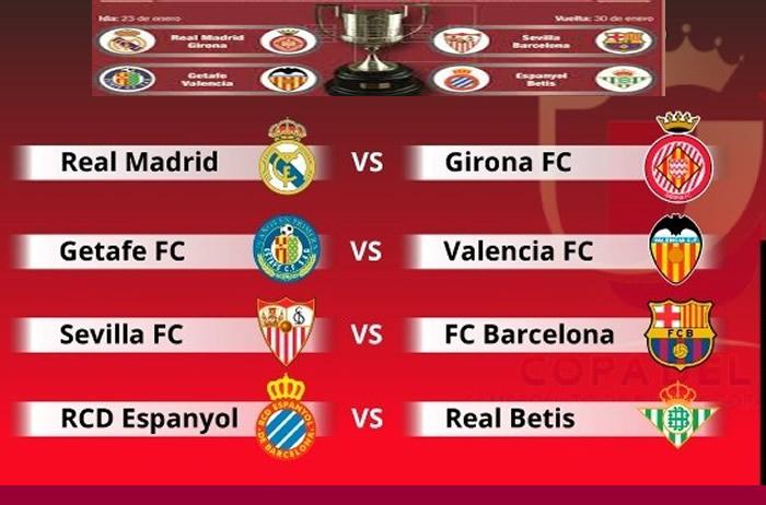 Copa del Rey: Barcelona-Sevilla y Real Madrid-Girona en 4to ...