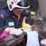 Rusia: Bebé sobrevivió a 20 grados bajo 0 entre escombros de edificio que se derrumbó (VIDEO)