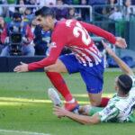Liga Santander: Atlético de Madrid cae 1-0 con Betis y se aleja del Barcelona