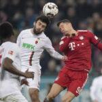 Bundesliga: Bayern Múnich logra un triunfo ajustado (3-2) ante el Augsburgo